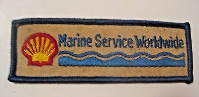 Vintage Shell Gas & Oil Marine Service Worldwide Advertising Cloth Patch