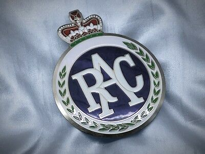 RAC Badge englische Plakette Club Emblem 1970 Triumph Jaguar Austin Mini MG #72