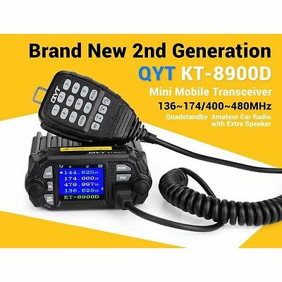 QYT KT-8900D Dual Band Quad Standby 5Tone 25W VHF UHF Radio for Car Truck Mobile