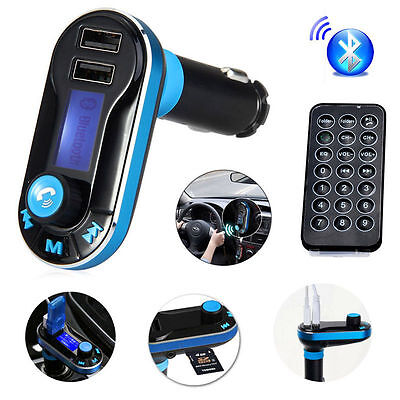 Bluetooth FM Transmitter with Remote Control Support SD/TF Card for iPhone HTC