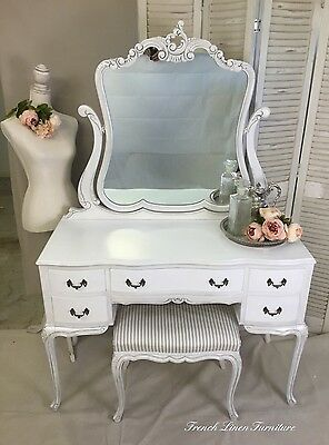 Antique Refurbished Bell Bros Dressing Table & Stool
