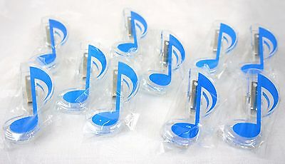 Sky Blue Quaver Clip to hold music to stand - Lot of 10