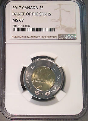2017 Canada Two Dollar ($2) Dance of the Spirits Toonie, NGC MS 67