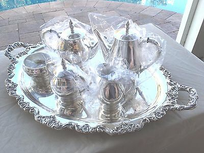 6 Pc Museum Quality Heavy International Sterling Royal Danish Coffee / Tea Set