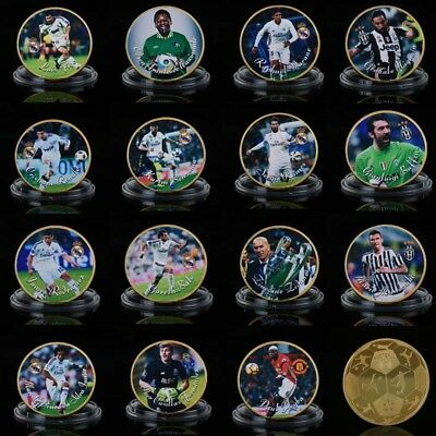 WR Various World Cup Football Soccer Star Commemorative Coin Memorabilia Gifts