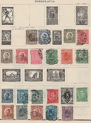 YUGOSLAVIA COLLECTION Assorted Values on Old Pages USED #,