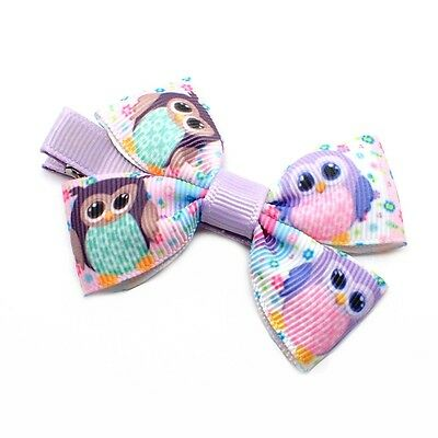 2x HANDMADE BOW HAIR CLIP BABY GIRLS CLIPS GIRLS RIBBON KIDS SIDES BOUTIQUE UK