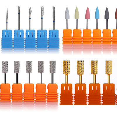 Pro Nail Drill Bits Gel Removal Polish Tool Rotary File Manicure Pedicure Shank
