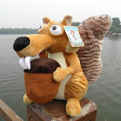 New Cute Large Ice Age 3 SCRAT Squirre Stuffed Plush Toy