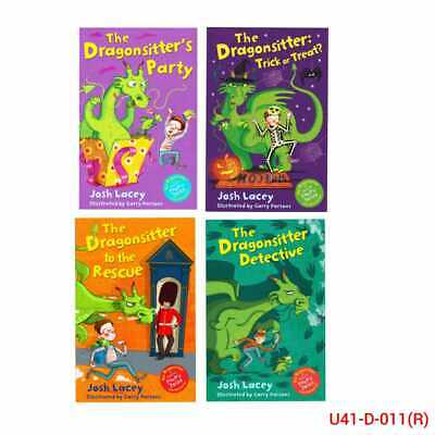 The Dragonsitter series 4 Books Collection Set By Josh Lacey Pack,Castle, Island