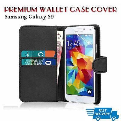 Flip Wallet Leather Case Cover For Samsung Galaxy S5 (B05
