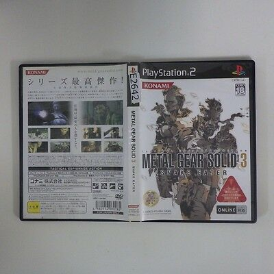 Metal Gear Solid 3 Snake Eater  PS2 PlayStation 2 JP GAME/s26