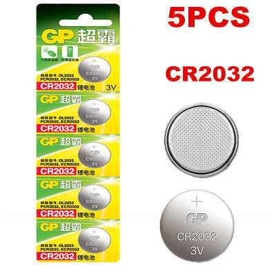 5PCS GP CR2032 DL2032 2032 3V Button Cell Coin Battery Batteries set