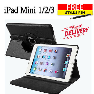 Leather 360 Rotating Smart Stand Case Cover For APPLE iPad mini 1 2 3 (B10