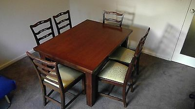 Antique Dining Table And Chairs