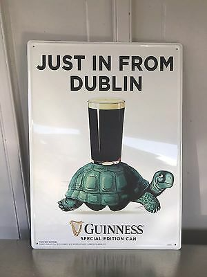 Guiness Beer Turtle Tin Sign 👀👍☘️19x14 Nice!