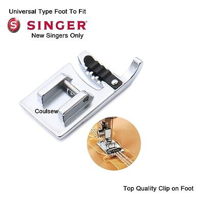CORDING FOOT 3 WAY Standard Fits SINGER (New Type) Sewing Machines Clip On