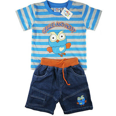 Boys girls Giggle and Hoot summer stripe top denim outfit sz 1-5