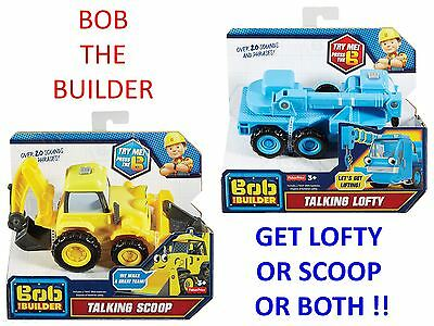 Bob The Builder - Get Talking Scoop or Talking Lofty or Both !! *Brand New*