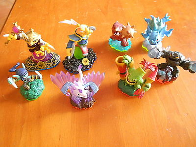 Skylanders 8 Figures Characters All In V Gd Cond - Fast Post