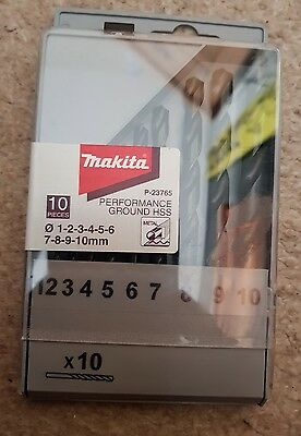 Makita P- 23764 10 Piece Hss   Metal Drill Bit Set