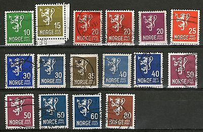 Norway 16 Old Stamps  - Used