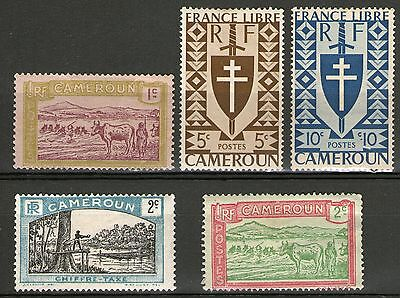 Cameroon  - 5 Older Stamps - MH