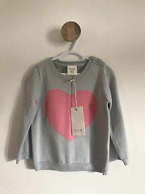 Seed Baby Girl Heart Jumper