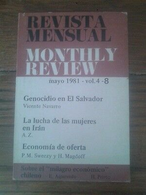 MONTHLY REVIEW vol. 4 - nº 8. GENOCIDIO EN EL SALVADOR