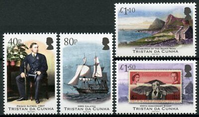 Tristan da Cunha 2017 MNH Prince Alfred Visit 150th 4v Set Ships Royalty Stamps