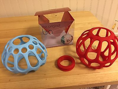 The Original Ba and Honeypie Silicone Baby Bottle Holders grips. O Ball. Lot
