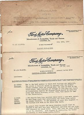 1928 1929  Model A Ford Original Dealer letters Chester, PA  AA Truck