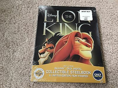 Disney The Lion King(Blu-ray/DVD/Digital)Signature Ed Steel Book Best Buy Excl