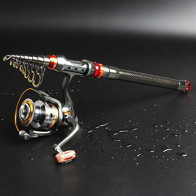 Spincasting Fishing Pole Rod with Reel Tackle Kit Telescopic Fishing Gears Combo