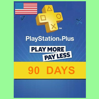 Playstation Plus Card Network 90 Tage 3 Monate PSN PS+ PS4 PS3 PSP Code US Store