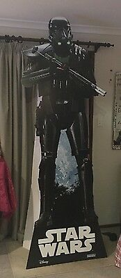 "Promotional - STAR WARS DISPLAY-""DEATH TROOPER""-From ""ROGUE ONE""- CARDBOARD CUT"