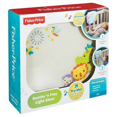Fisher-Price Light Show Crib, Soothe 'N Play - Brand New