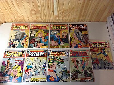 SUPERGIRL 1972 SET 1 - 10  Missing Issue #6 (9 Issue Lot)