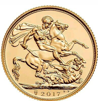 Pistrucci FULL Gold Sovereign 2017 with Unique 200th Ann. Royal Mint Mark