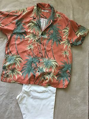 Lot of 5 !! Tommy Bahama Mens Shirts Long and Short Sleeve Button Down XXL