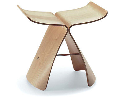 Sedia stool Butterfly DESIGN Design. frassino naturale Originale
