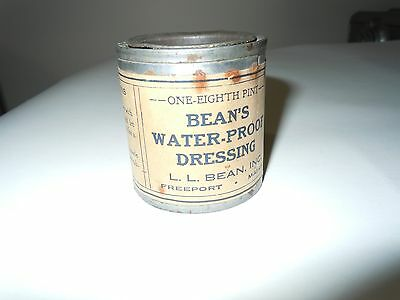 Vintage 1/8 Pint L.L. Bean's Water-Proof Dressing for Leather, Freeport, Maine
