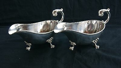 Pair Vintage, Silver Plated Sauce Boat By Alexr.clark Mfg. Co.