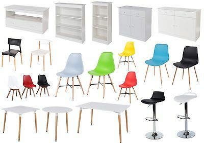 Aspen White Living and Dining Collection - Chairs, Tables, Display and Storage