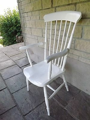 Vintage painted kitchen high back chair. UK DELIVERY INCLUDED.