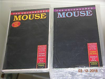 THE UNCENSORED MOUSE #1 & 2 Eternity Comics Mickey Mouse DISNEY SUED OVER THESE