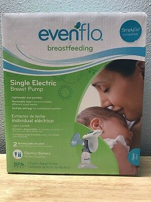 New Evenflo Single Electric Breast Pump Lightweight and Portable Sealed