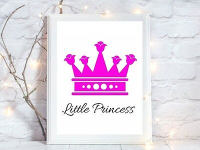 little princess a4 glossy poster Print  picture gift unframed quote nursery