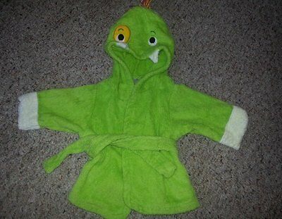 BABY ASPEN Green Terry DRAGON Bathrobe Fits baby 0-9 months