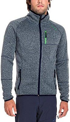 Twentyfour Strick Fleece Jacke Svalbard Warme - Forro para hombre, color azul,
